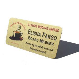 Plastic Badge created for Illinois Mochas United