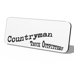 Countryman Truck Outfitters Plastic Logo Only Badge