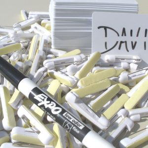 Blank Dry/Erase Name Tags