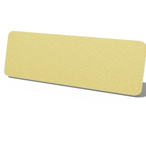 Gold Speck with White Core Plastic Name Tag