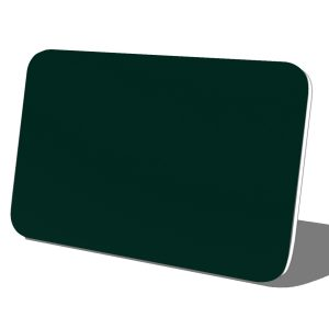 Green with White Core Plastic Name Tag