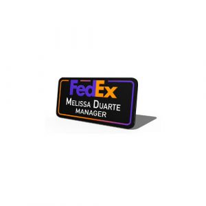 Metal-With-Name-And-Logo-Fedex