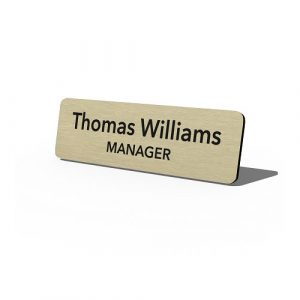 Metal-With-Name-And-Logo-Manager-Gold
