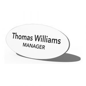 Oval-Name-Logo-White-Plastic-Manager-Badge