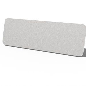 Silver Speck Plastic Name Tag
