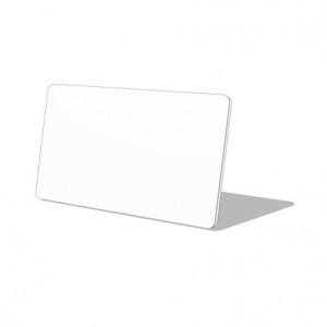 White 2 1/8 x 3 3/8 inch Name Tag