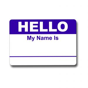 Hello My Name Is Blue Name Tag