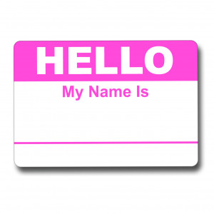 Hello My Name Is Pink Name Tag