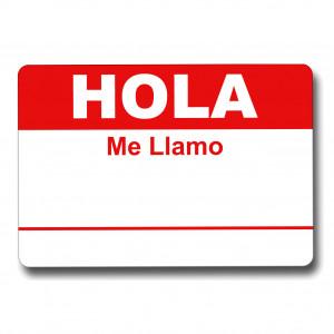 Hola Me Llamo Red Tag