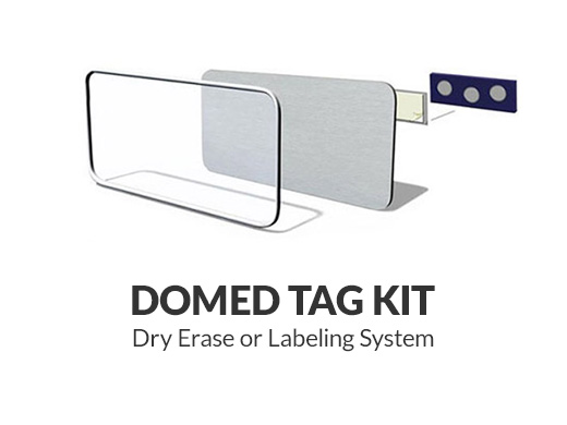 Domed Tag Kit Dry Erase or Labeling System
