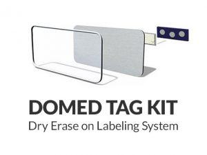 Domed Tag Kit Dry Erase or Labeling System