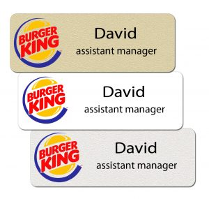 Burger King Name Tags