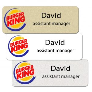 Burger King Name Tags