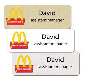 McDonalds Name Tags