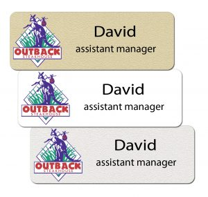 Outback Steakhouse Employee Name Tags