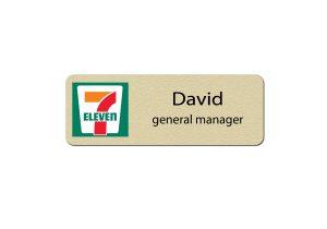 7-Eleven Manager Name Badges