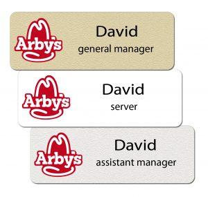 Arbys Name Badges