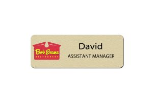 Bob Evans Manager Name Tags