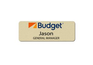 Budget Rental Car Manager Name Tags
