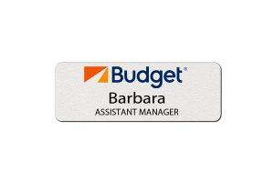 Budget Rental Car Employee Name Tags
