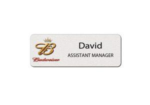 Budweiser Employee Name Badges