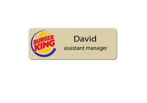 Burger King Manager Name Tags
