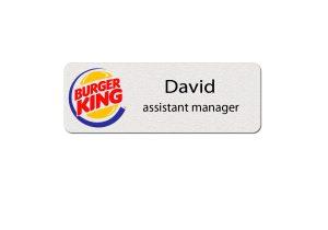 Burger King Employee Name Tags