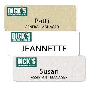 Dick's Sporting Goods Name Tags and Badges