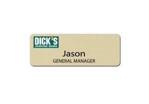 Dick's Sporting Goods Manager Name Tags and Badges