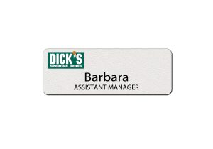 Dick's Sporting Goods Employee Name Tags and Badges