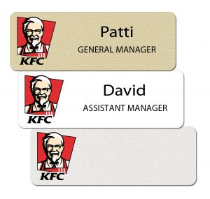 KFC Name Badges