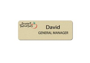 Sweet Tomatoes Manager Name Tags