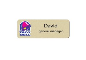 Taco Bell Manager Name tags