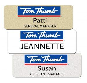 Tom Thumb Name Badges