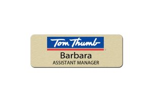 Tom Thumb Manager Name Tags