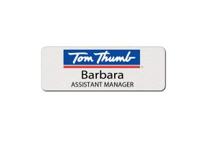 Tom Thumb Employee Name Tags