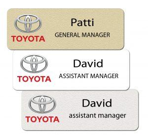 Toyota Name Badges