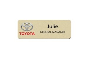 Toyota Manager Name Badges