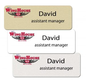 Winghouse Name Badges