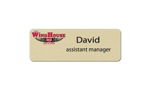 Winghouse Manager Name Tags