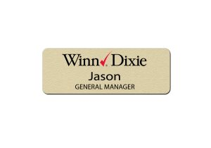 Winn Dixie Manager Name Badges