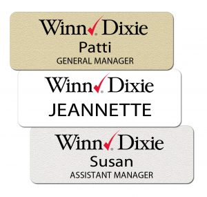 Winn Dixie name Tags and Badges