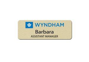 Wyndham Hotel Manager Name Badges
