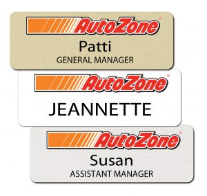 AutoZone Metal Name Tags and Badges