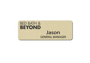 Bed Bath and Beyond Manager Name badges