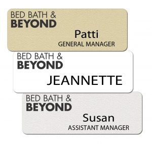 Bed Bath and Beyond Name Badges