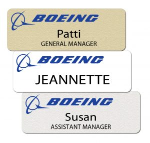 Boeing Name Tags