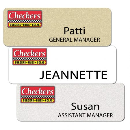 Checkers Name Badges