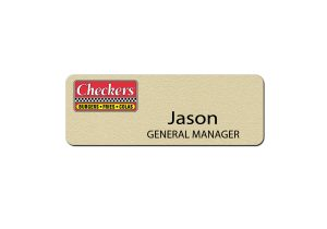 Checkers Manager Name Badges