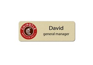 Chipotle Manager Name Badges